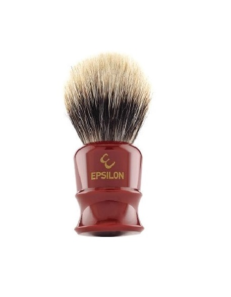 Epsilon Two Band Badger mäyränkarvainen partasuti Burgundy 52/25mm